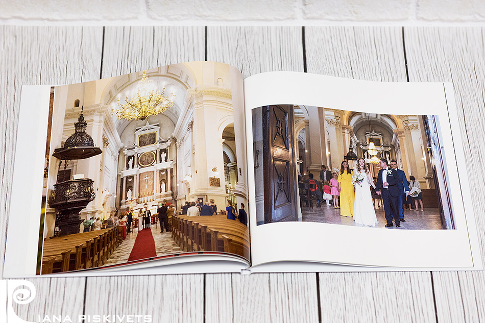 A wedding photo book is a masterpiece of a photographer or a final result of photo report of church ceremony and marriage registration, which can be viewed by turning over leaves of a photo book with pictures printed on the highest quality photographic paper.