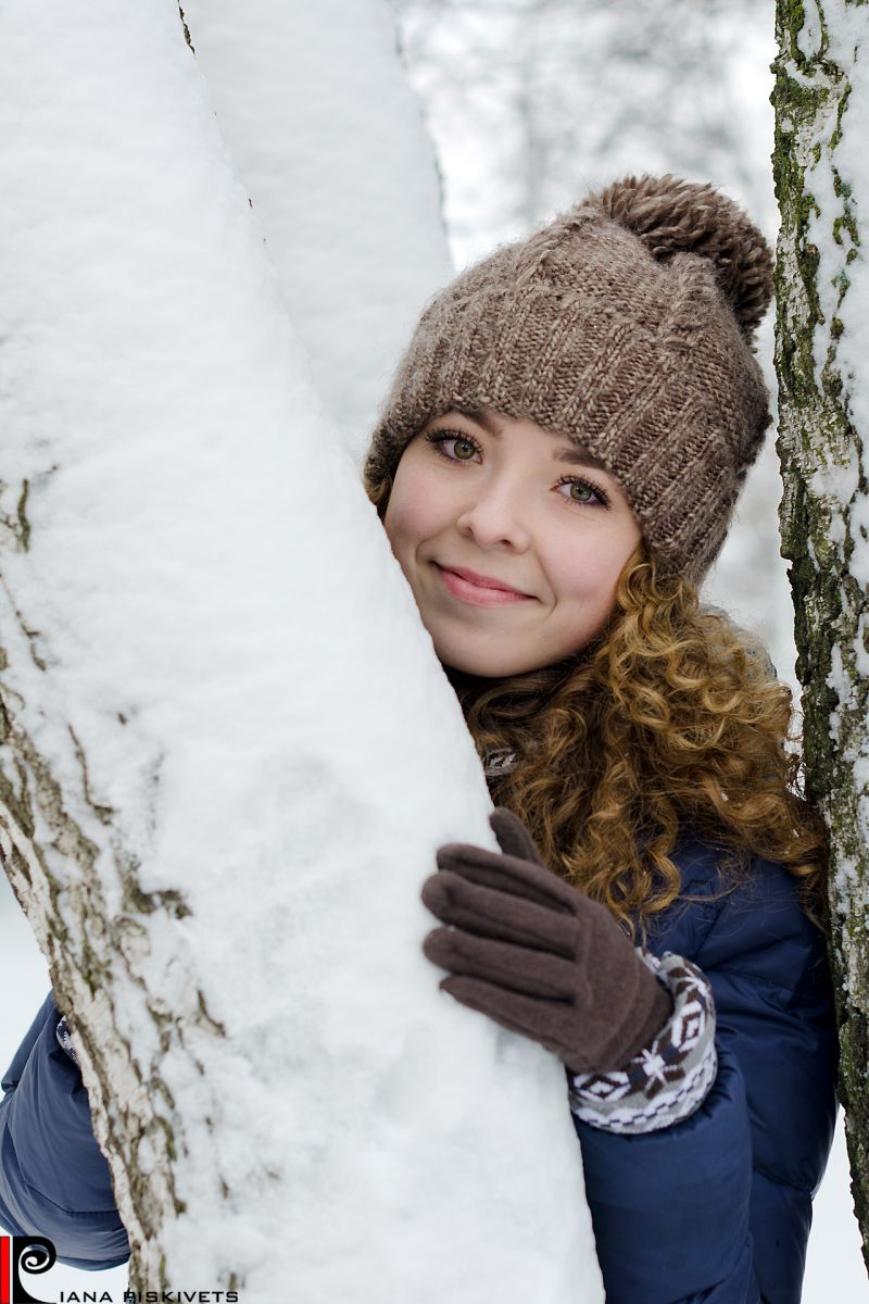 Зимние фотосессии для девушки
