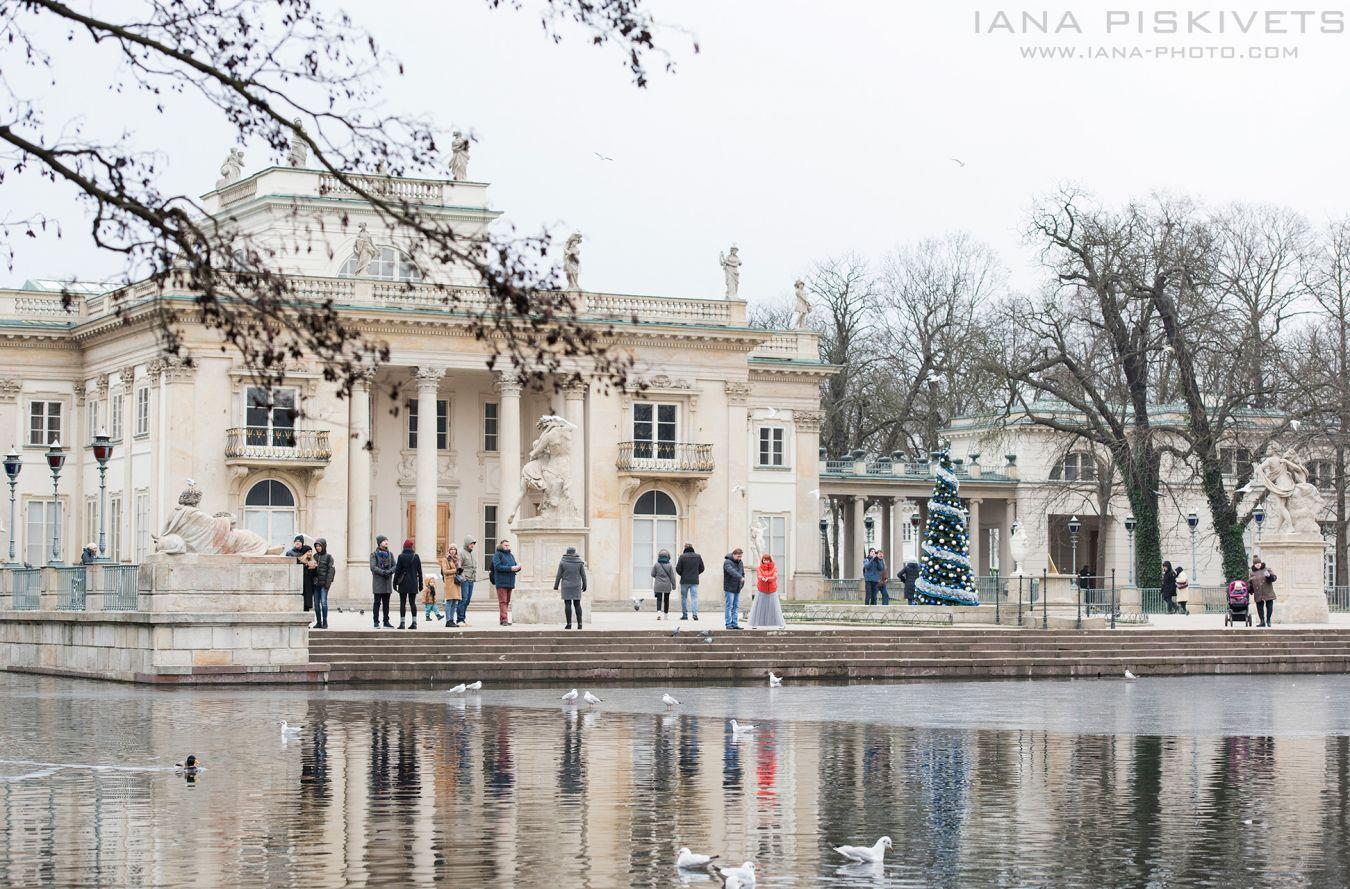 Zimowa sesja plenerowa w Warszawskich Łazienkach królewskich