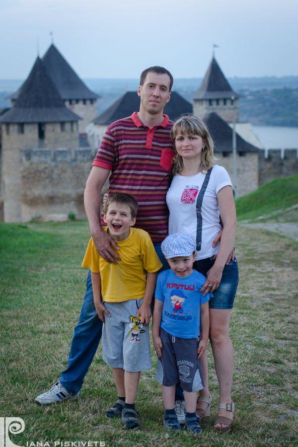 Sesja rodzinna Alexa i Natalii z synami