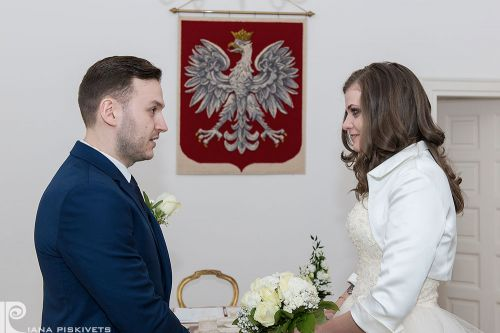 Happiness. Beauty Bride, photos civil marriage. True love. Happy woman. Marriage registration USC Pruszkow, romantic photo session. Professional wedding photographer in Warsaw, photos, modern wedding couple, bride and groom, beautiful bride and groom