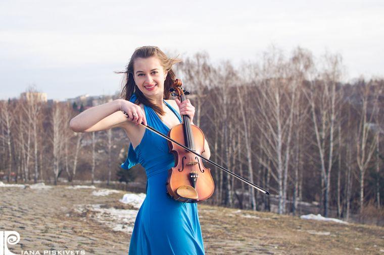 Ольга-фотосессия со скрипкой